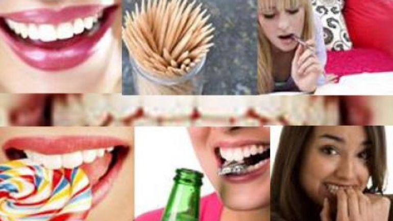 Hábitos diarios perjudiciales para nuestra sonrisa